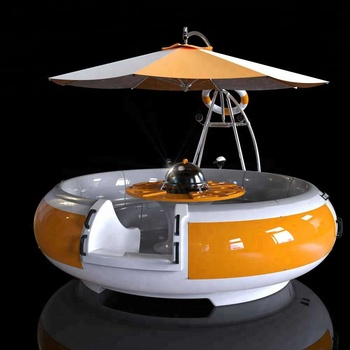 Gather Sport Electric BBQ fiberglass water donut restaurant boat
