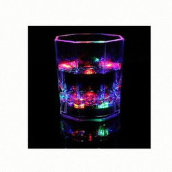 bar light led glowing shot glasses cup in the night