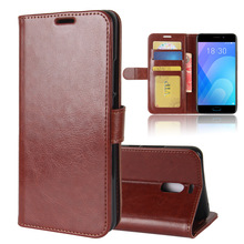 Leather Wallet Case Hybrid PU Leather Flip Cover For Meizu M6 Note Case TPU PU