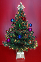 Fiber Optic Christmas Tree with Star Topper