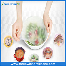 Top quality Silicone Reusable Cling Film Kitchen Silicone Wraps