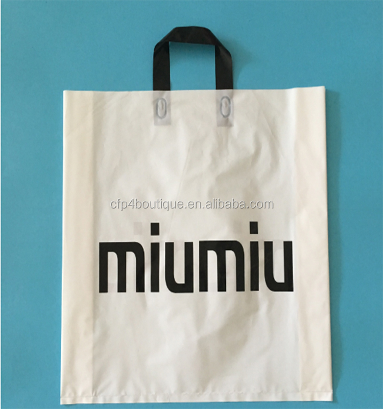 CFP B683 Wholesale Personalised Frosty Retail Merchandise Gift Plastic Shopping Bag