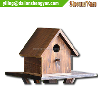 Small Wooden Bird Cages Bird Houses Stand Manufacturer