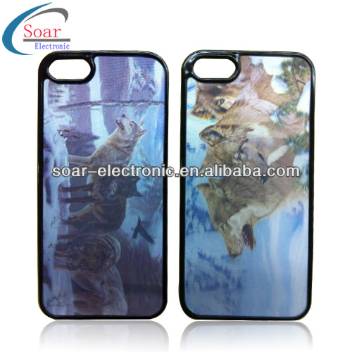 2014 Fantastic and Newest Phone Case with 3D Flip Effect Image for iPhone 4/5/5s/5c