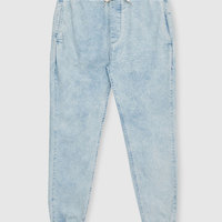 Guangzhou Washed Light Blue Denim Jeans