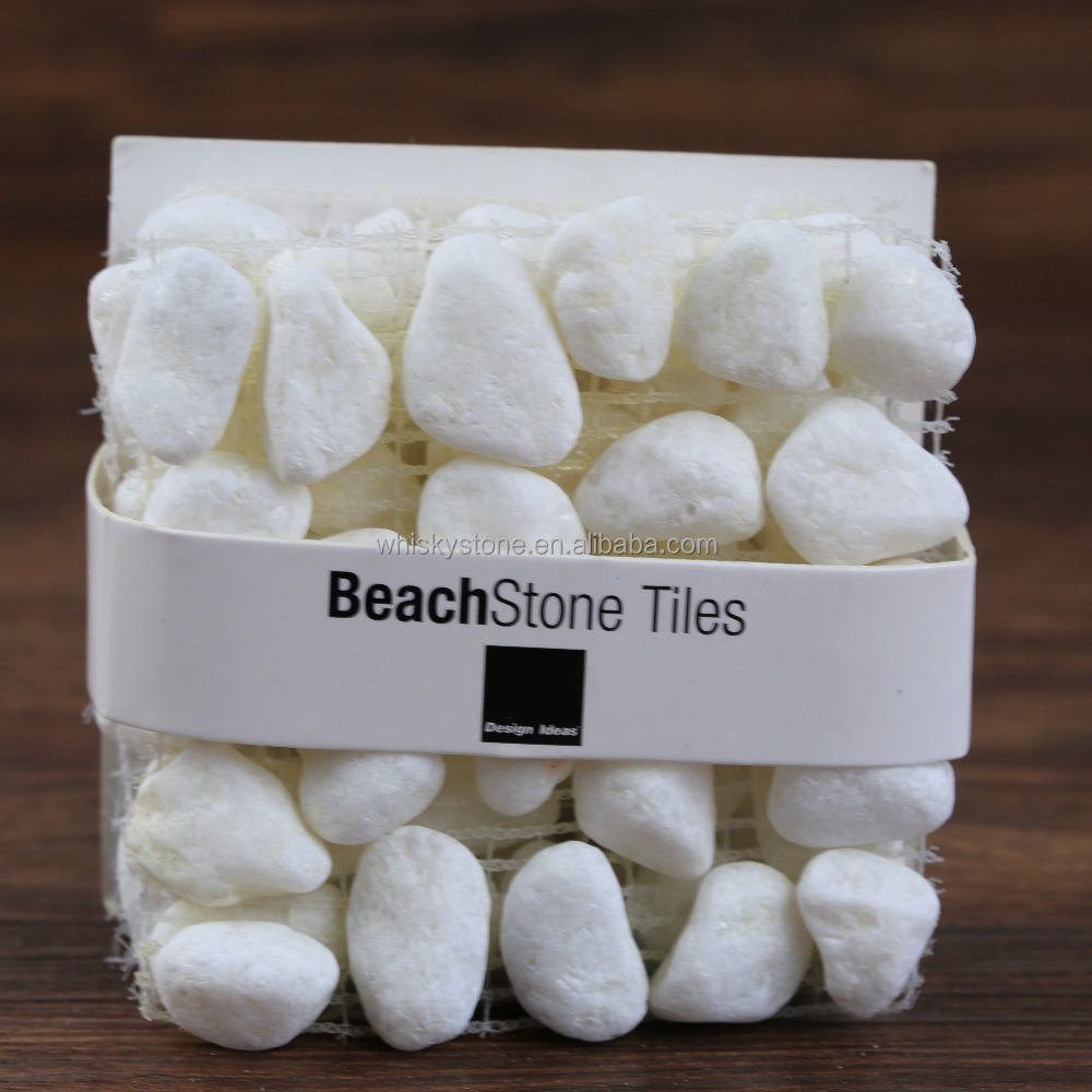 Handcrafts beach stone coaster, Nature stone coaster wholesale