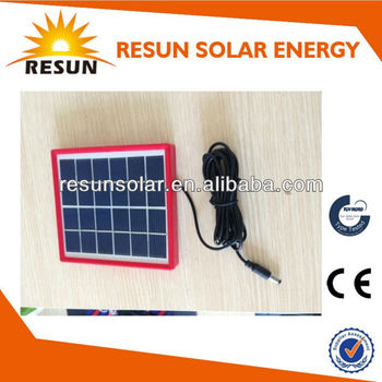 small solar panel 2.5W 6V 400ma poly crystalline solar panel for light or camping use
