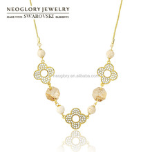 Neoglory Austria Crystal 2015 Fashion Chain Necklace Brand Charm Designer Gold Plated