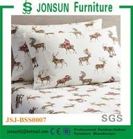 Jonsun cotton printed 200 thread count sheet set 3d bedding set
