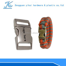 "curved metal buckle for paracord,1"" inch engraved metal buckle with logo laser service"