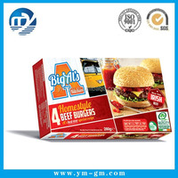Custom design popular frozen food box packaging OEM/ODM food grade material
