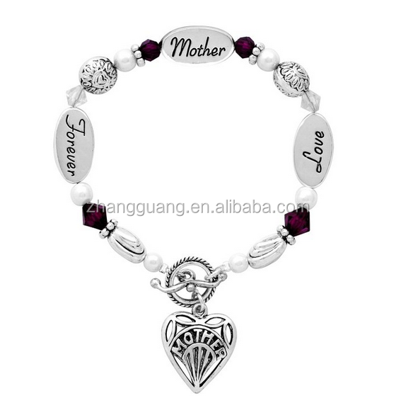 Mother' Day Fashion Heart Bracelets Lettering Love Mother Forever