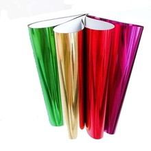 hot PET metallized colourful reflective film for holiday decoration