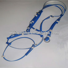 PVC horse bridle with two nose ring