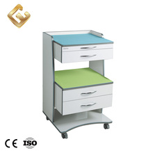 High standard dental furniture cabinet medical equipment cleaning trolley cart