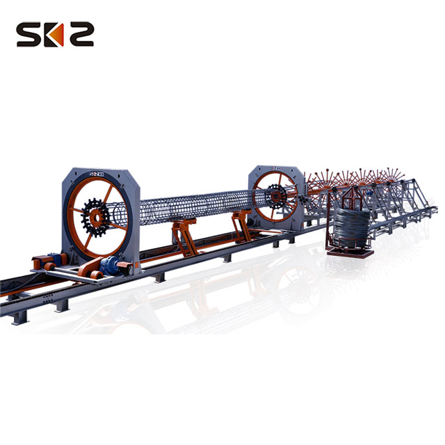 reinforced concrete steel pile cage making machine