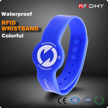 Silking Screen Printing Cheap Silicone NFC Wristband for Swimming Pool