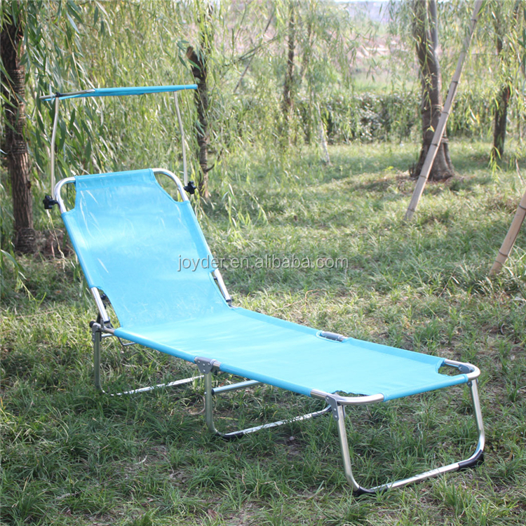 height adjustable aluminum folding webbed lawn chair chaise lounge with footrest