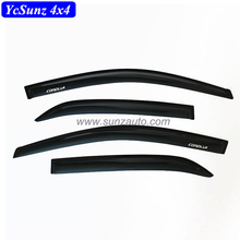 Side Window Deflectors For Corolla 2012 Abs Black Color For Corolla Vent Door Visor