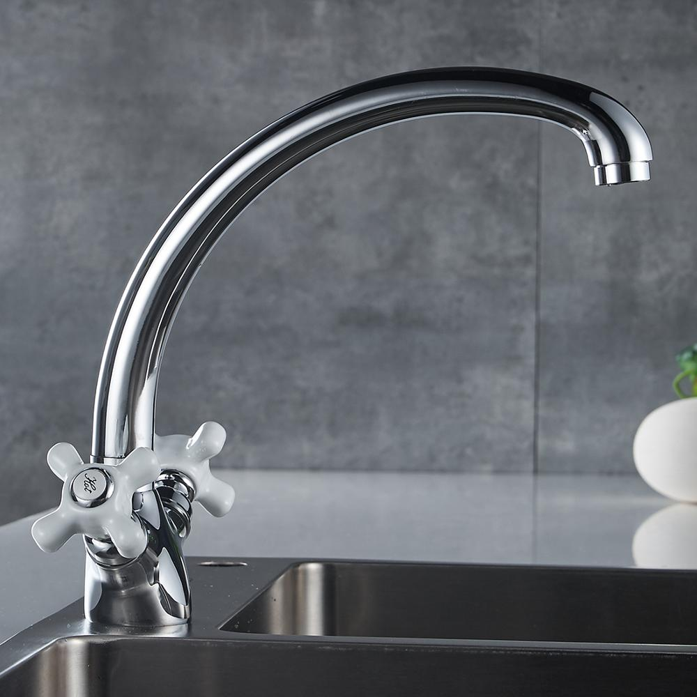 2 Handles chrome water ridge kitchen sink faucet