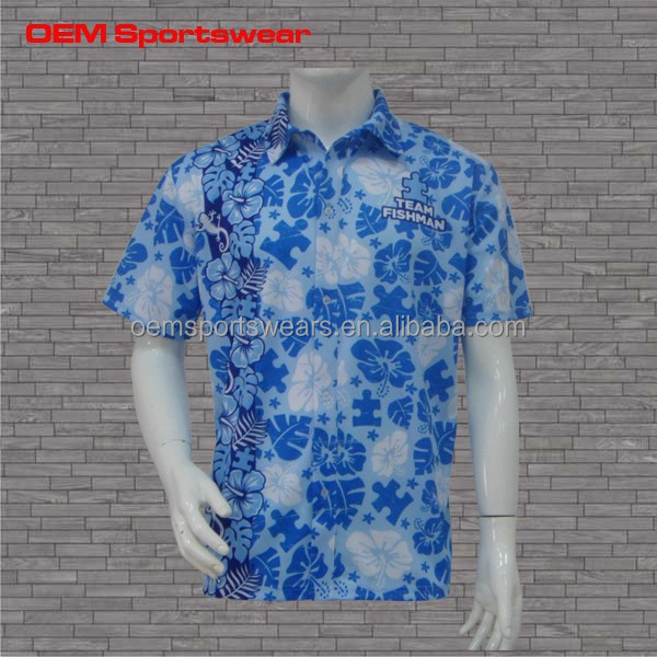 wholesale cheap custom printed hawaiian shirt for men