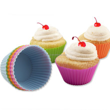 baking tools Siliecone Cupcake Holders Baking Cups mould 2 Inch Squares, 12 Pack