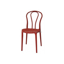 red color fancy child wood and plastic design chair