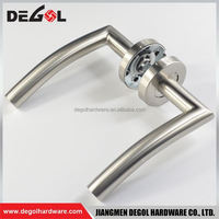 High-end stainless steel residential apartment solid type door lever handle for panic