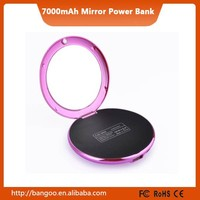 Promotion gift Designer Mirror Portable External Battery USB Charger Power Bank for Smartphone