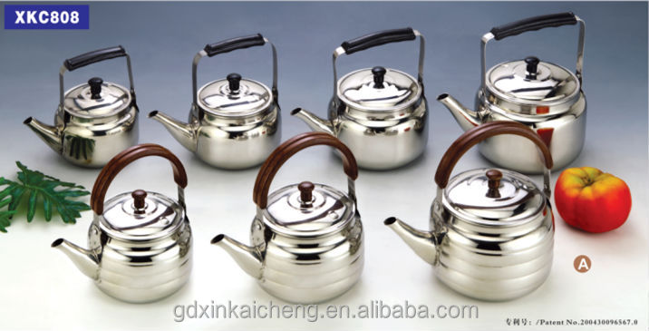 Ding -Dang teapot stainless steel and with S/S 201 , half round long spout