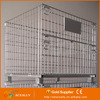 Industry wire mesh collapsible cage with pu casters