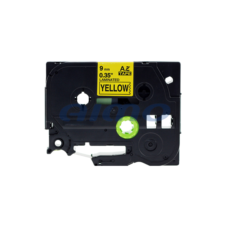 wholesale compatible strength laminated tz label tape 9mm black/yellow for brother tze621