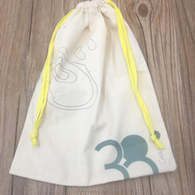 Organic Cotton Drawstring Bag With Lemon String