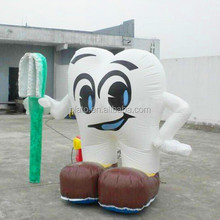Giant Customize Logo Inflatable Teeth and Toothbrush Toy for Advertising