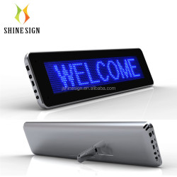 blue color mini screen battery operated led message board