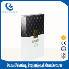 Custom high end perfume debossing folding paper box packaging gift paper box