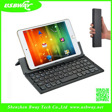 High Quality Aluminum Bluetooth Keyboard for iPad mini- iPad Wireless Keyboar with stand
