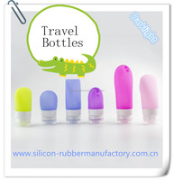 Top Quality Sub-Bottling Different Sized Silicone Travel Bottles 38ml 60ml 90ml Size