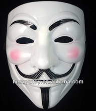 Hot Selling V for Vendetta Mask Plastic Mask