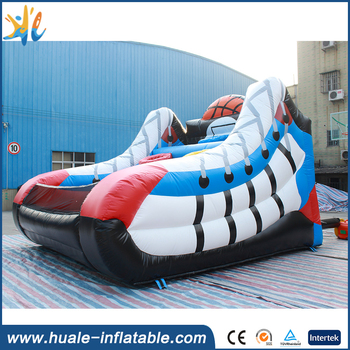 inflatable funny game basketball shoot model inflatable bouncy shoes for kids and adult