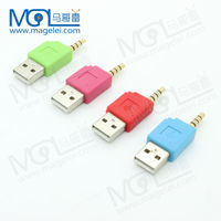 colorful usb to 3.5mm audio 4 poles adapter for ipod