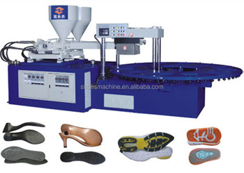 Dual density two color heels injection moulding machine