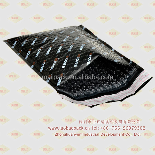 Black Poly Bubble Mailer /Envelope with Logo