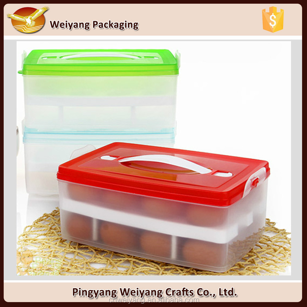 High quality plastic egg tray organized storage boxes packaging boxes for eggs