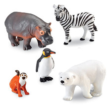 ICTI certificated custom made plasitc zoo animal set toy figurine
