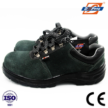 green suede leather breathable steel toe electrical shock proof safety shoes for workers