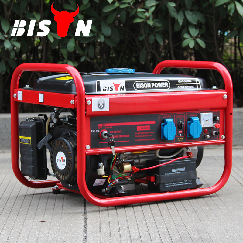 BISON China Taizhou Long OEM Factory Run Time Launtop Gasoline Generator