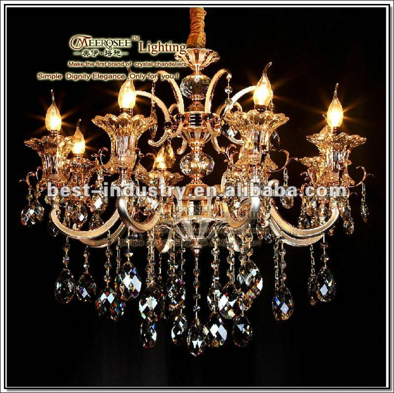 Meerosee plated silver crystal decorating light