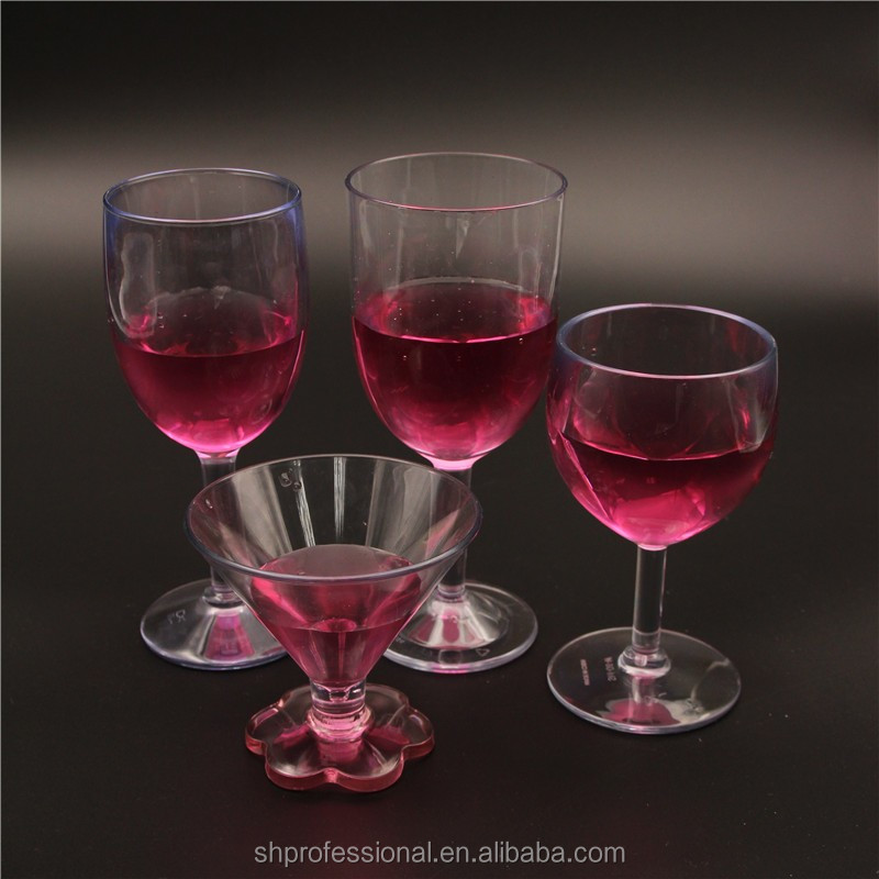 8oz promotion plastic acrylic wedding bpa free wine goblet buy acrylic wine glas unbreakable - Plastic medieval goblets ...