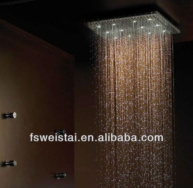 20 inch rain spa led shower head WST-1699-6B